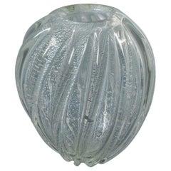 Seguso Murano Italian Glass Vase
