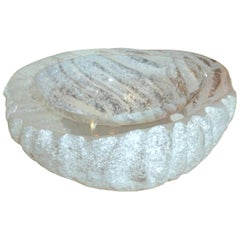 Seguso Murano Vetri d'Arte Acid Etched Corrosso Glass Bowl Vintage