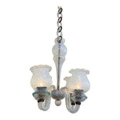 Seguso of Italy 1950s Murano Glass Chandelier