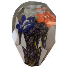 Seguso Paperweight Murano Glass 1950 Italy