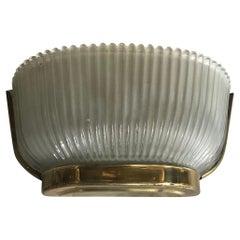 Seguso Sconce Brass Glass, 1930, Italy