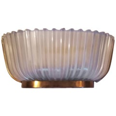 Seguso Sconces 1930 Brass and Glass