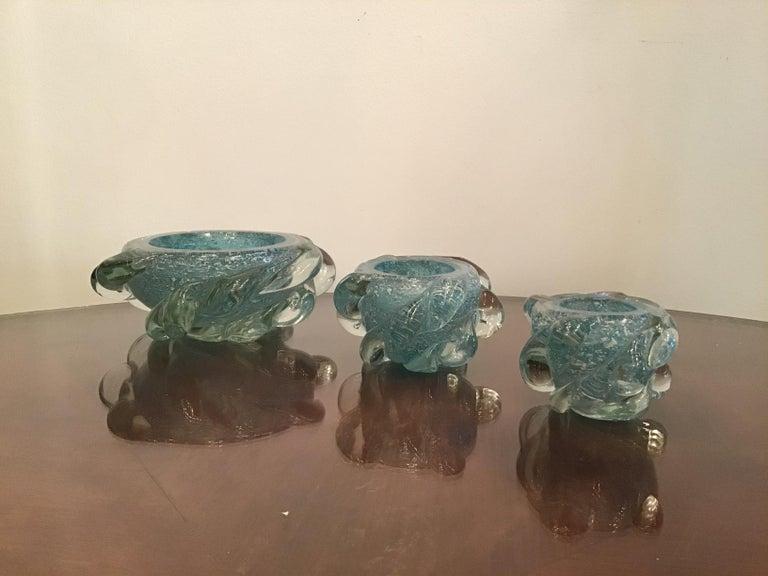 Seguso Smoke Set Murano Glass, 1940, Italy For Sale 4