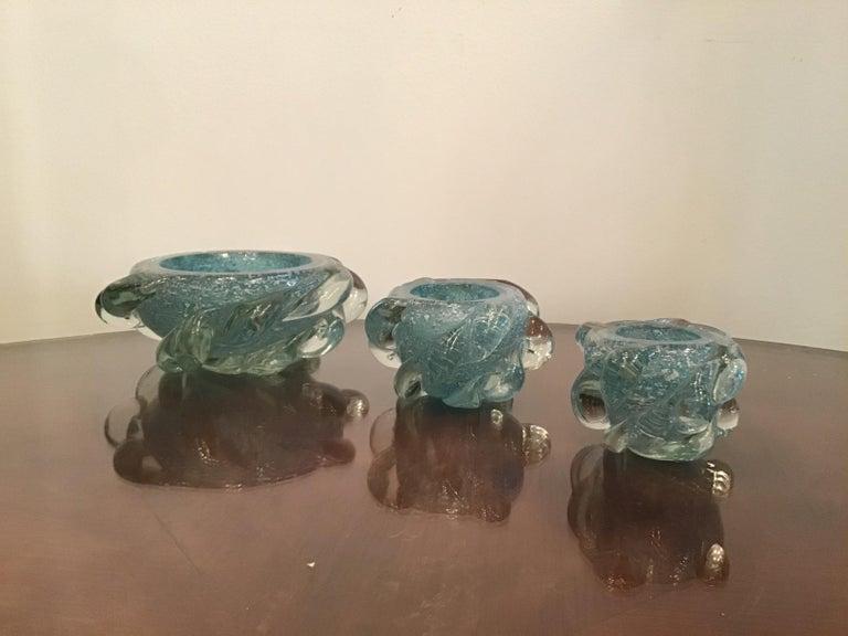Seguso Smoke Set Murano Glass, 1940, Italy For Sale 5