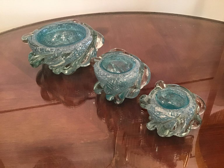 Mid-20th Century Seguso Smoke Set Murano Glass, 1940, Italy For Sale