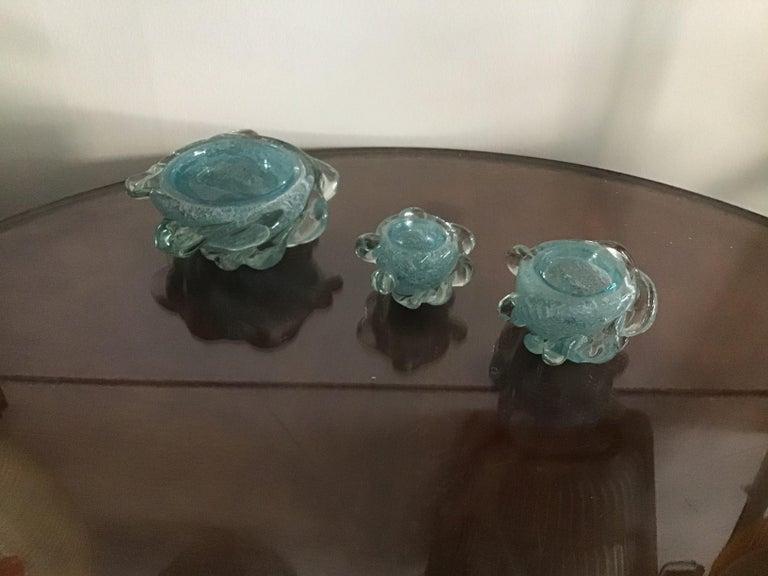 Seguso Smoke Set Murano Glass, 1940, Italy For Sale 3