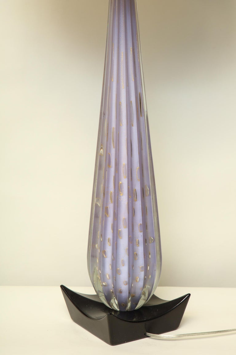Seguso Table Lamp Mid-Century Modern Murano Art Glass, Italy, 1950s For Sale 5