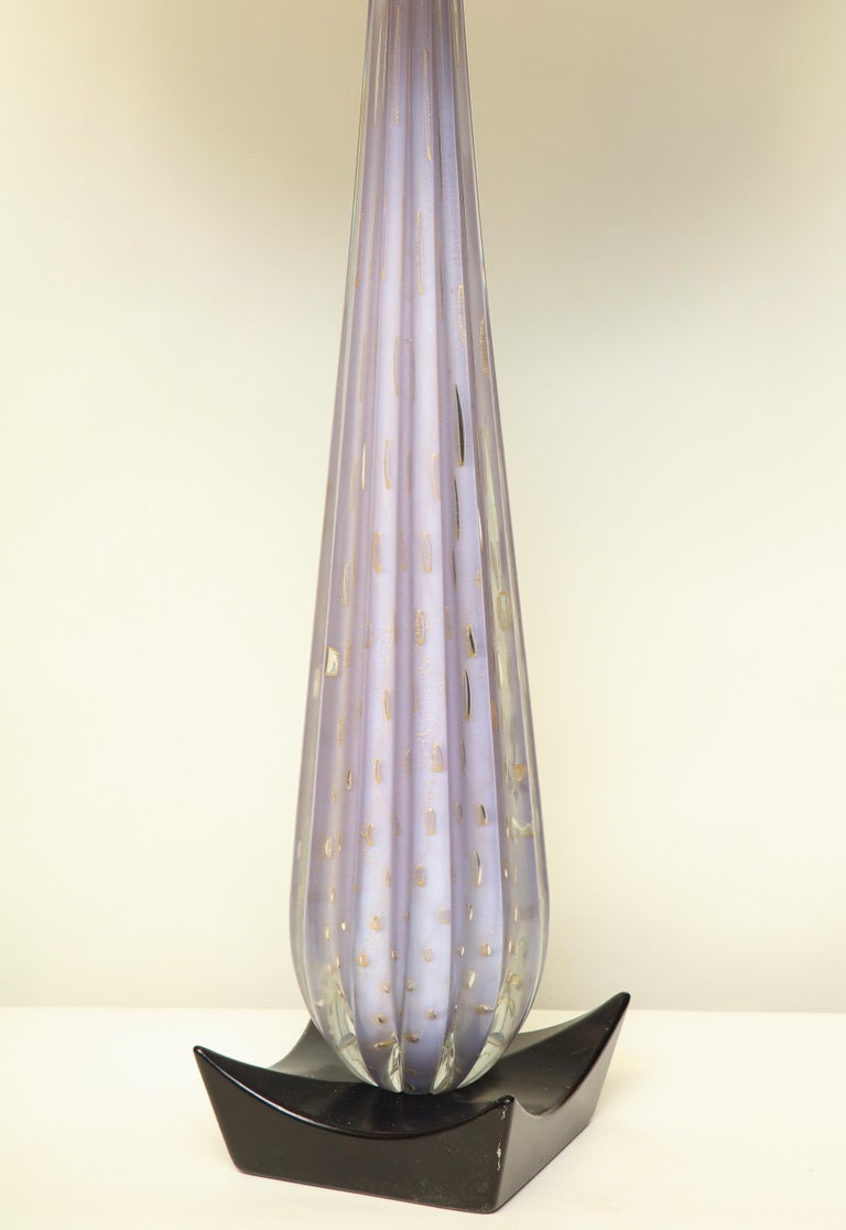 Mid-20th Century Seguso Table Lamp Mid-Century Modern Murano Art Glass, Italy, 1950s For Sale
