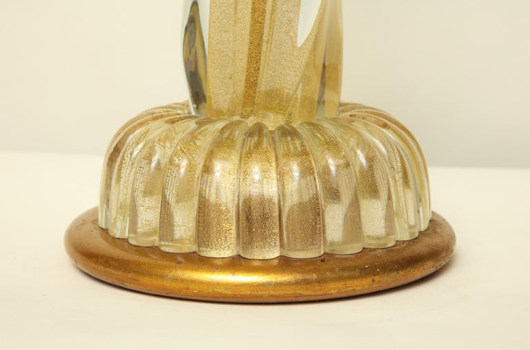 Mid-20th Century Seguso Table Lamp Murano Art Glass Mid-Century Modern, Italy, 1950s For Sale