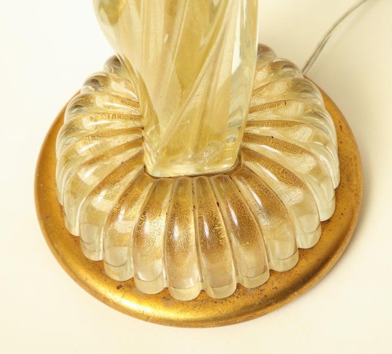 Seguso Table Lamp Murano Art Glass Mid-Century Modern, Italy, 1950s For Sale 3