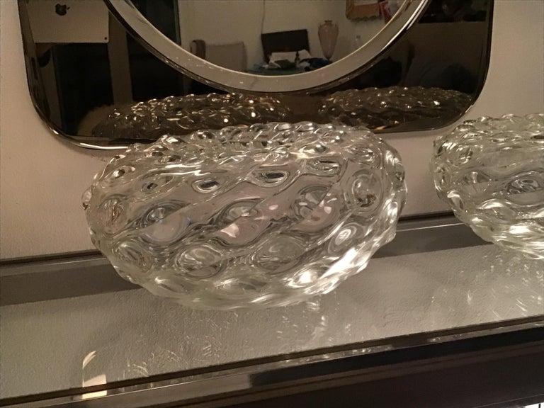 Italian Seguso Vase Murano Glass 1950 Italy For Sale