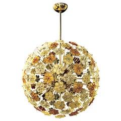 Seguso Vetri d' Arte, Murano Glass Round Chandelier