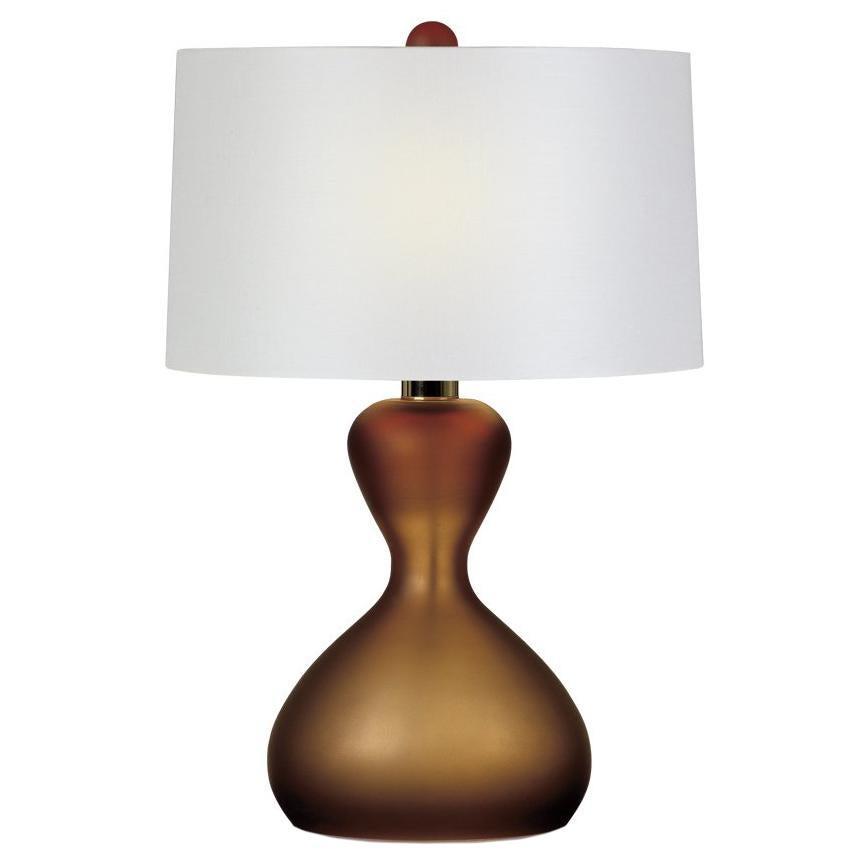 Seguso Vetri d'Arte Clessidra Table Lamp Taupe Murano Glass