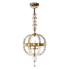 Seguso Vetri d'Arte Corona Lantern Clear Murano Glass