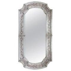 Seguso Vetri d'Arte De Le Erbe Murano Glass Antique Finished Mirror