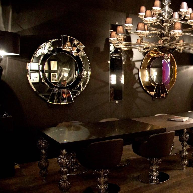 Seguso Vetri d'Arte Maravege Mirror Murano Glass In Excellent Condition For Sale In Murano-Venice, IT