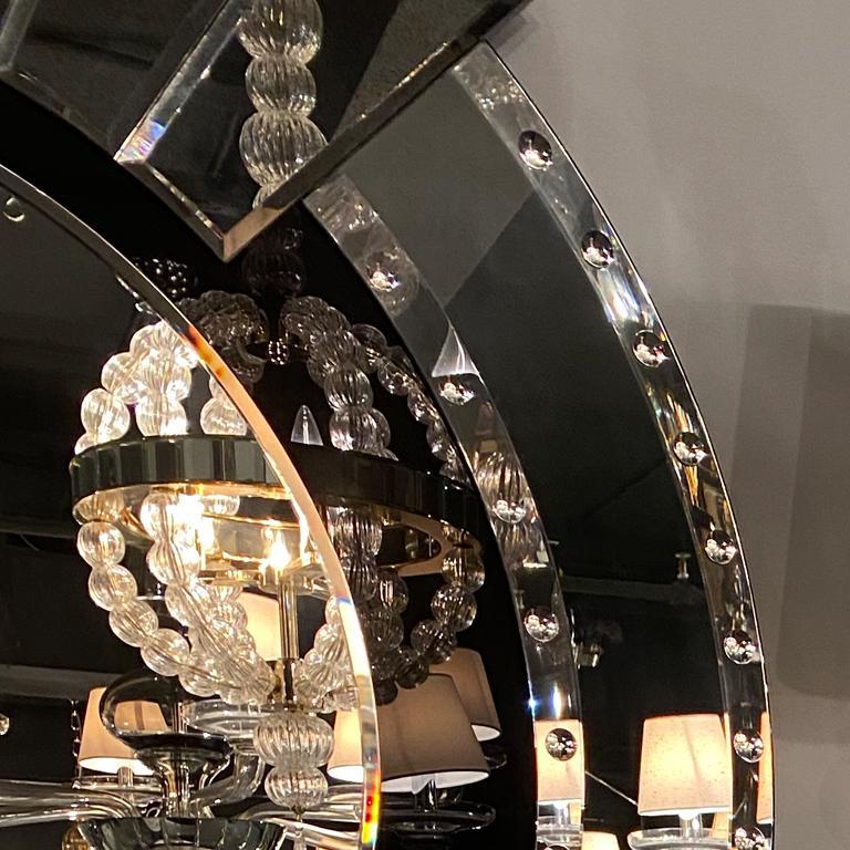 Italian Seguso Vetri d'Arte Maravege Mirror Murano Glass For Sale