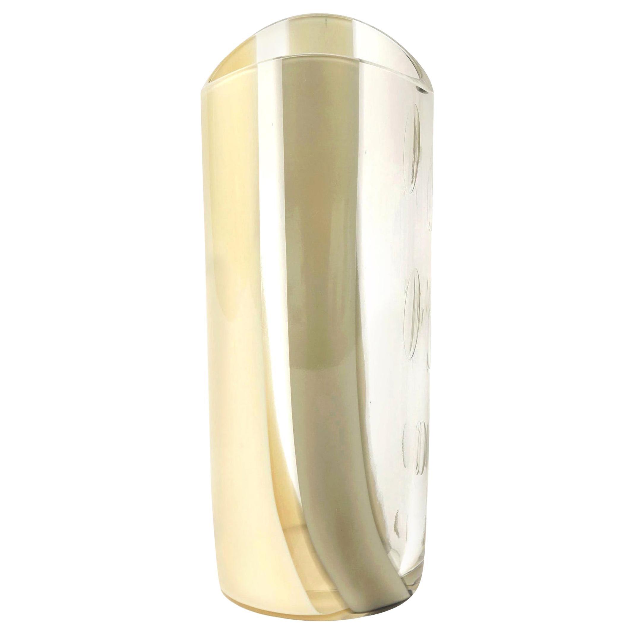 Seguso Vetri d'Arte Murano Abstract Glass Vase
