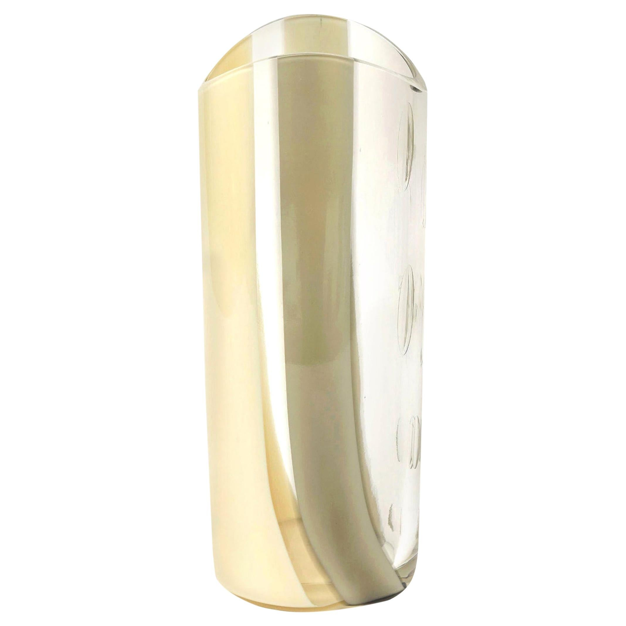 Seguso Vetri d'Arte Murano Abstract Glass Vase