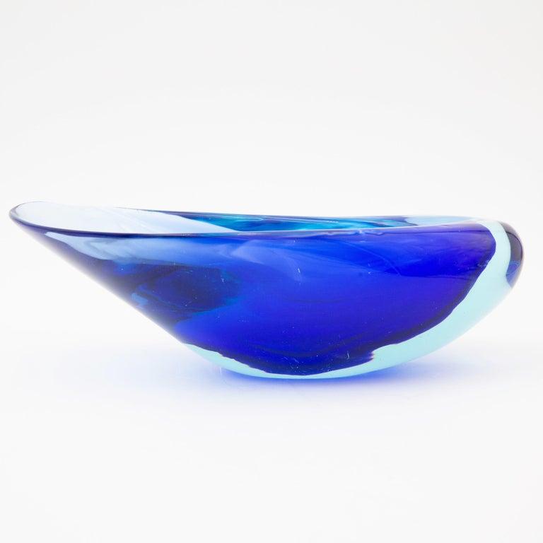 Mid-Century Modern Seguso Vetri d'Arte Murano Flavio Poli Seashell Dish For Sale