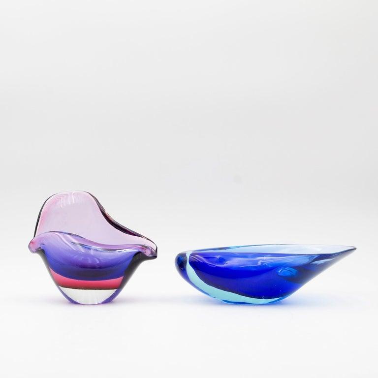 Mid-20th Century Seguso Vetri d'Arte Murano Flavio Poli Seashell Dish For Sale