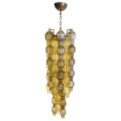 Seguso Vetri d'Arte Murano Glass Poliesaedri Lighting Fixture
