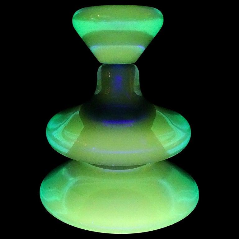 Hand-Crafted Seguso Vetri d'Arte Murano Sommerso Cobalt Blue Italian Art Glass Perfume Bottle
