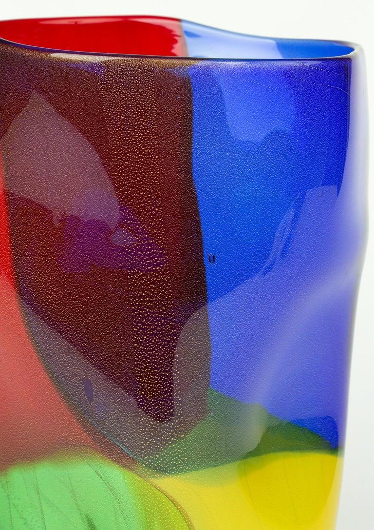 Seguso Viro Murano 4 Quarti Incalmo Colored Art Glass Vase For Sale 6