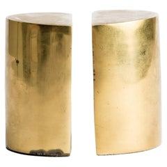 Seibel Brass Modernist Bookends