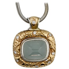 Seiden-Gang, Gem-Set Pendant Accompanied with a Gold Necklace Pendant Signed