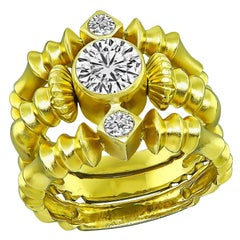 Seidengang 18 Karat Yellow Gold Diamond Ring