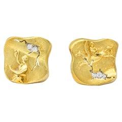SeidenGang Diamond 18 Karat Gold Platinum Pegasus Odyssey Collection Earrings