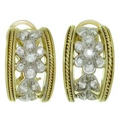 SeidenGang Diamond Yellow Gold Wrap Earrings