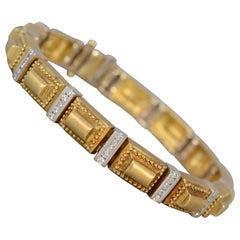 Seidengang Gold Links and Diamond Bracelet