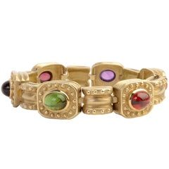 SeidenGang Multistone Link Gold Bracelet