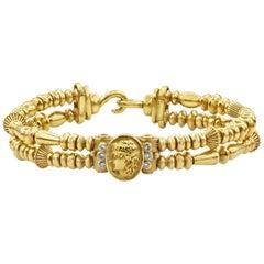 Seidengang Roman Portrait Diamond Gold Retro Bracelet