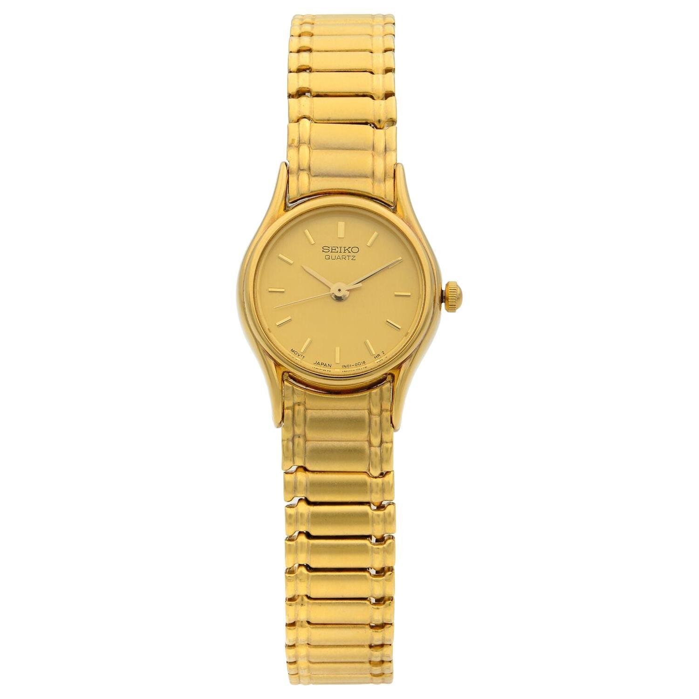 Seiko Expansion Bracelet Steel Champagne Dial Quartz Ladies Watch SXG238