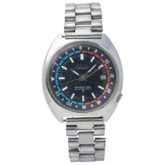 Seiko Navigator Timer 6117-6410, Black Dial, Certified and Warranty