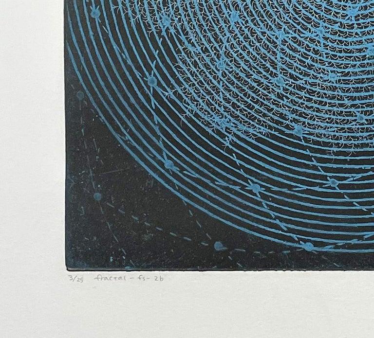 Fractal-fs-2b - Black Abstract Print by Seiko Tachibana