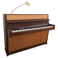 Seiler Piano Mid-Century Modern Germany Black Forest 1950ies Maple Walnut Lamp