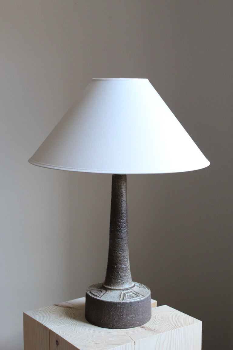 A small table lamp produced by Sejer Keramik, Denmark, 1960s  Sold without lampshade. Stated dimensions excluding lampshade and lightbulb.