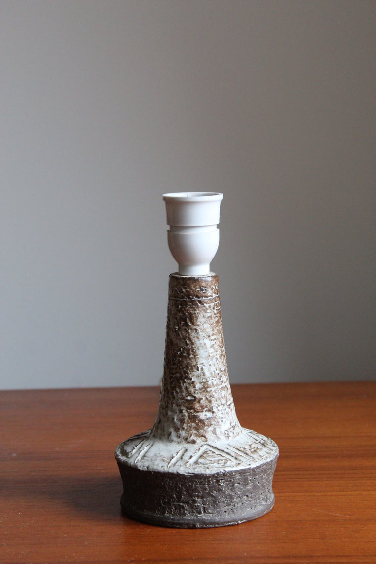 Mid-Century Modern Sejer Keramik, Table Lamp, Glazed Stoneware, Denmark, 1960s For Sale