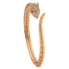 Selda Jewellery Ananta Sesha Bracelet in 14K Rose Gold with Black, White Diamond