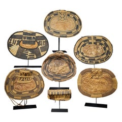Selection of 7 Cache-Sexe Made of Palm Leaf, Mangbetu People, DRC