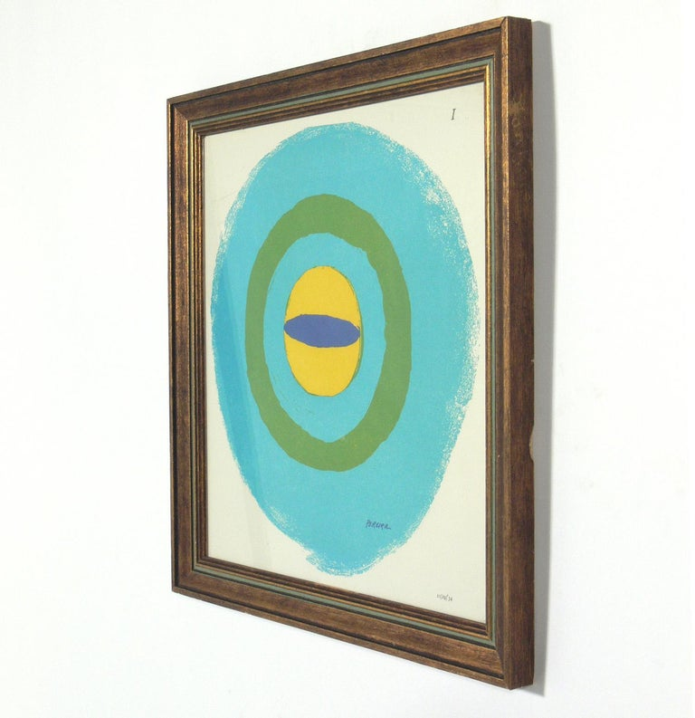 Mid-Century Modern Selection of Abstract Modern Lithographs or Gallery Wall For Sale