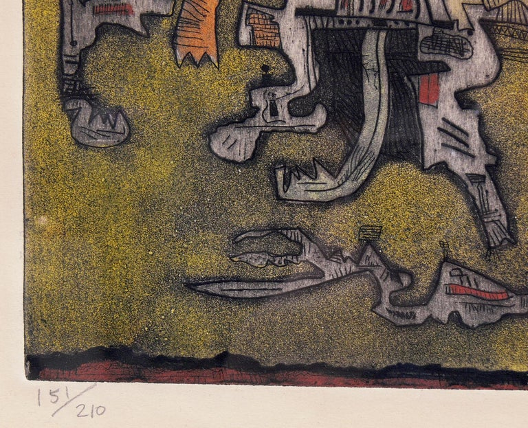 Mid-20th Century Selection of Abstract Modern Lithographs or Gallery Wall For Sale