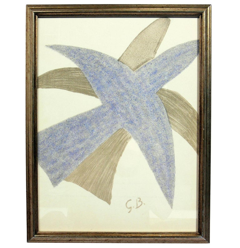 Glass Selection of Abstract Modern Lithographs or Gallery Wall For Sale