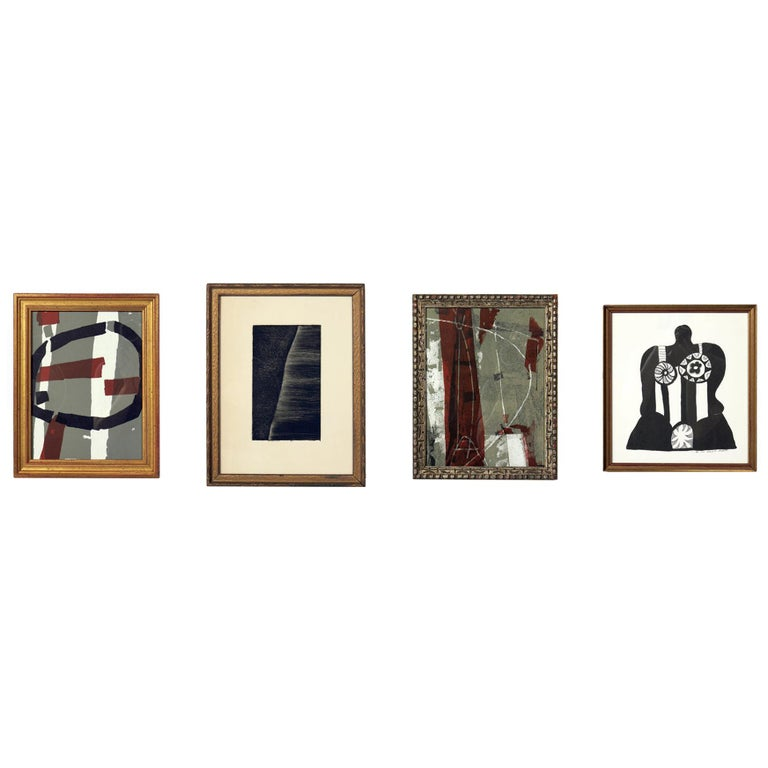 Selection of Abstract Modern Lithographs or Gallery Wall For Sale