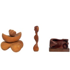 Selection of Abstract Wood Sculptures