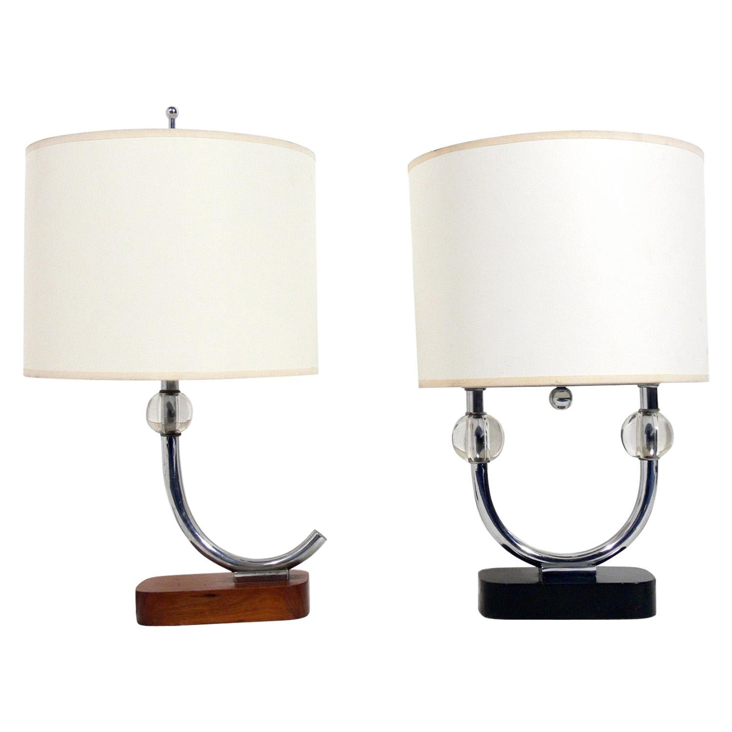 Selection of Art Deco Lamps Attributed to Gilbert Rohde